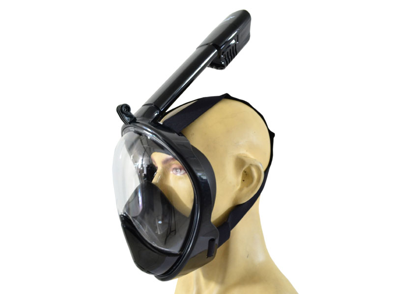 THENICE Full Face Snorkeling Mask 2nd Gen - Hitam Ukuran S/M