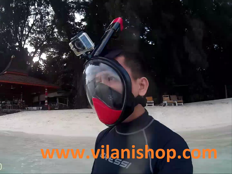THENICE Full Face Snorkeling Mask 2nd Gen - Hitam Ukuran L/XL
